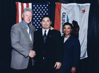 Meeting with President Bill Clinton and Rep. Barbara Lee.