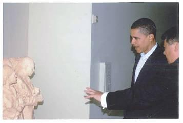 Phil chatting with President Barack Obama