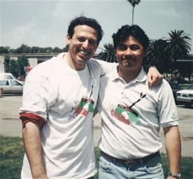 Phil and City Councilman John Russo, during a city clean-up program in 1993.